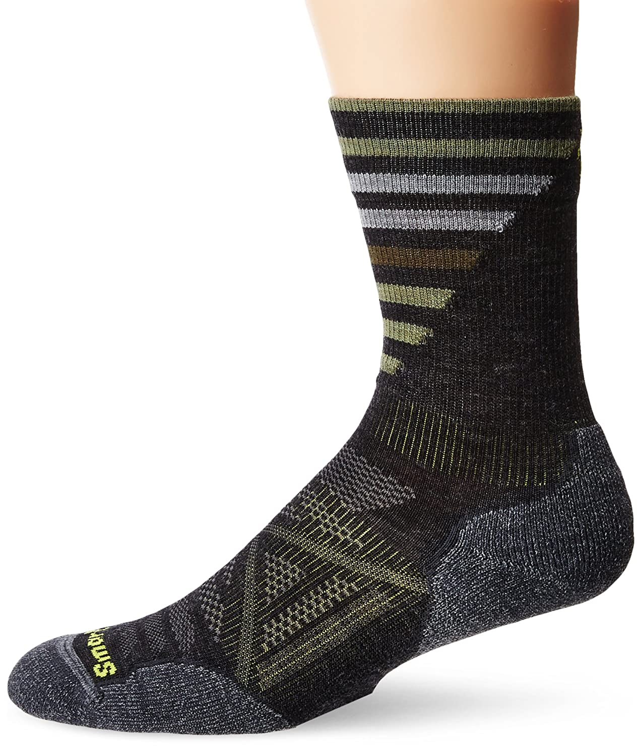 Smartwool Men's PhD Outdoor Light Pattern Crew Socks (Charcoal) Medium SW001208-003-M