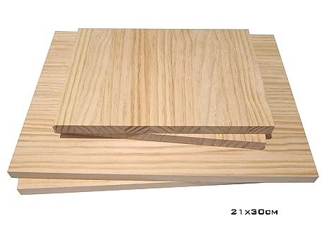 Barús. Tablero Alistonado de Madera de PINO. (A Medida). Grosor:18mm. Fabricados en Galicia. (21x30cm (1tablero))