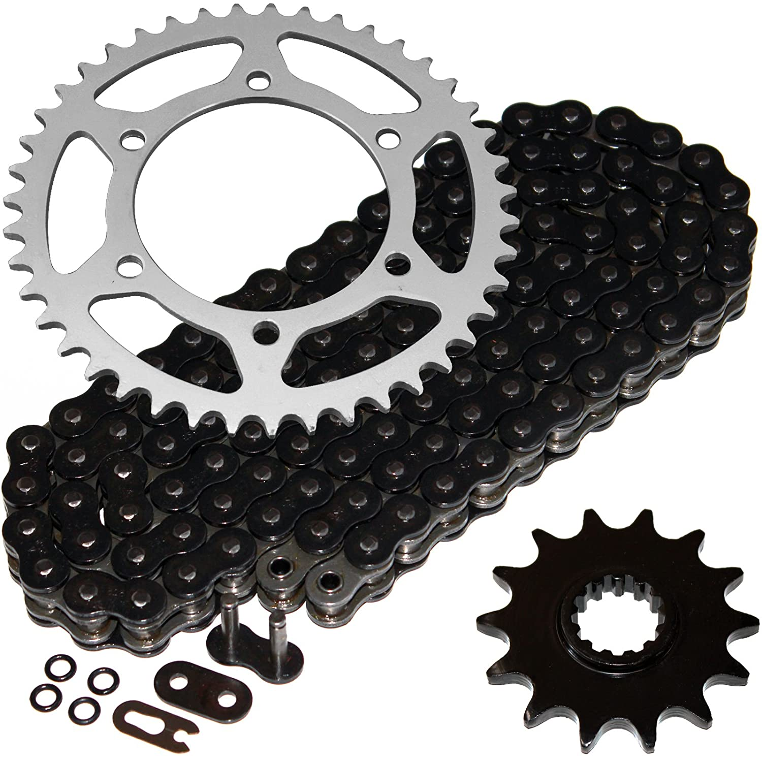 Amazon.com: Caltric Black O-Ring Drive Chain & Sprockets ...