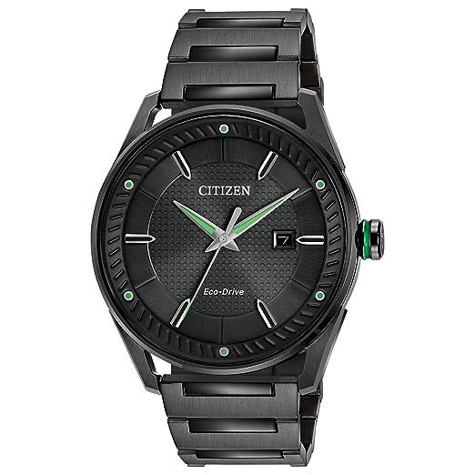Citizen Reloj de conducción ecológica y Verde para Hombre: Amazon.es: Relojes