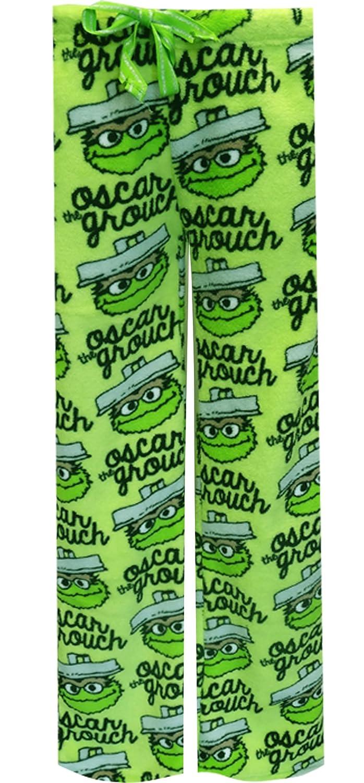 Sesame Street Women's Oscar the Grouch Plush Lounge Pants (Large) MJC W235ME300L