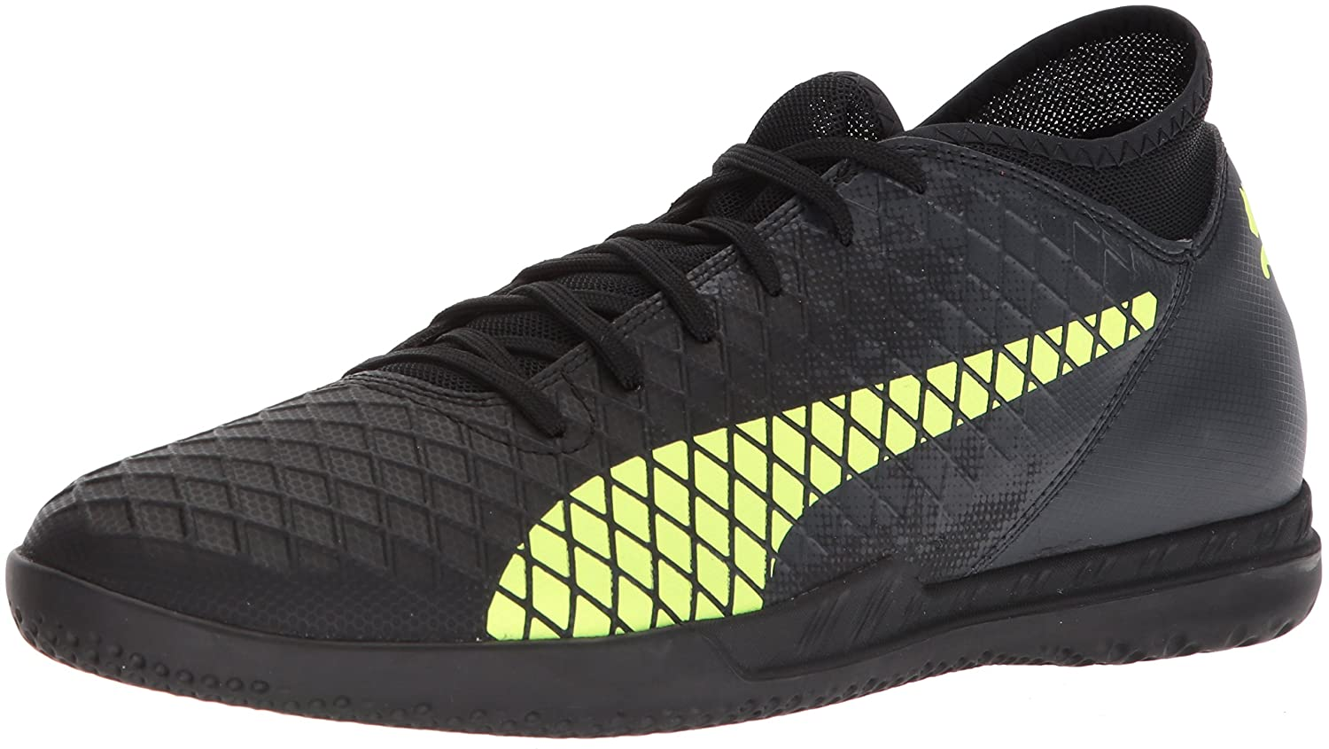 PUMA メンズ FUTURE 18.4 IT B071GL6D4M 13 D(M) US|Puma Black-fizzy Yellow-asphalt Puma Black-fizzy Yellow-asphalt 13 D(M) US