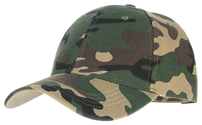 La Vogue Men Jingle Printing Baseball Hat Snapback Hat Camouflage Dad Hat Green