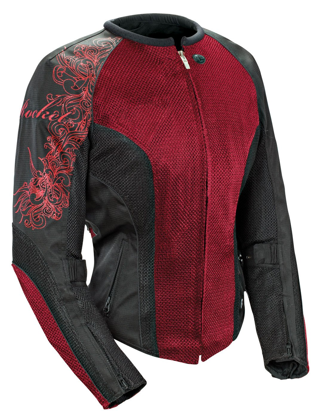 Joe Rocket Cleo 2.2 Women's Mesh Motorcycle Riding Jacket (Wine/Black/Black, X-Large)