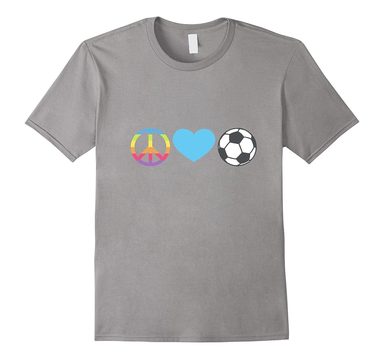 Peace Love Soccer Emoji t-shirt Goal Goalie Penalty Kick