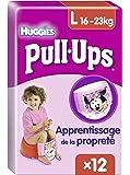 Huggies Pull-Ups, 12 Mutandine di apprendimento per bambina, Taglia L/XL (16-23 kg)
