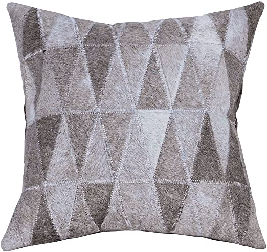 Cowhide Leather Patchwork Cushion Pillow Cover U-L903