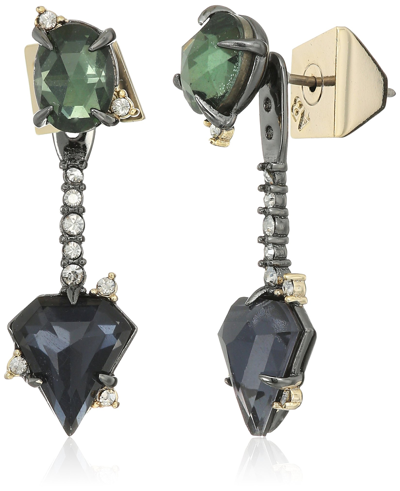 alexis bittar fall 2017 double stone post with earrings jacket