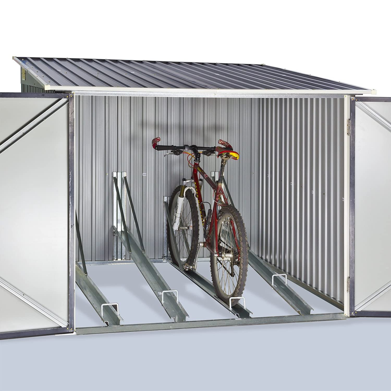 dema fahrradgarage f r 4 fahrr der lohnt sich der kauf. Black Bedroom Furniture Sets. Home Design Ideas