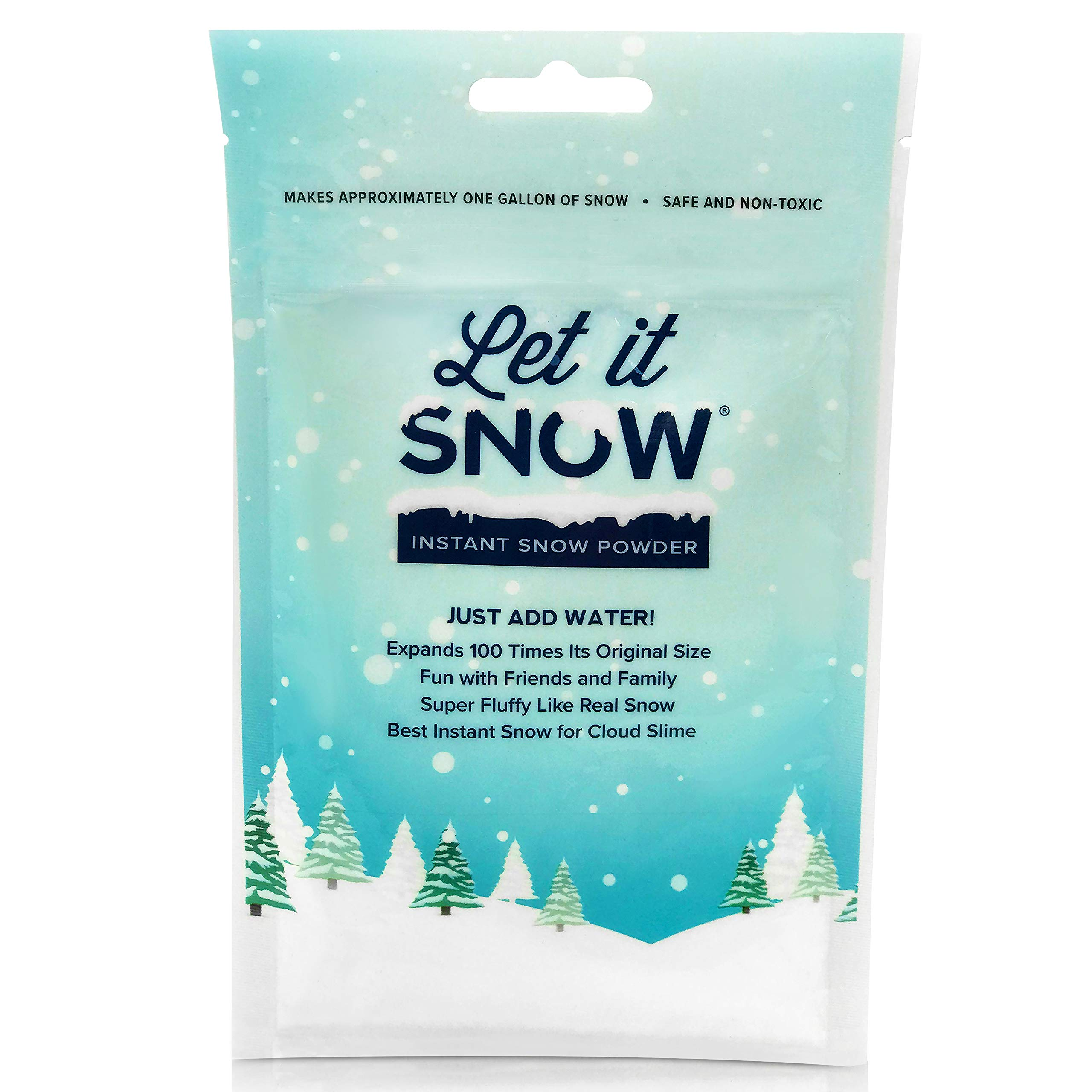 Let it Snow Instant Snow Powder (4 Gallons) and Elmer's Glue (1 Gallon) - Mix Makes Magical Fluffy White Artificial Snow - Perfect for Cloud Slime! Frozen Theme Birthday Parties and Snow Decorations! by Let it Snow (Image #1)