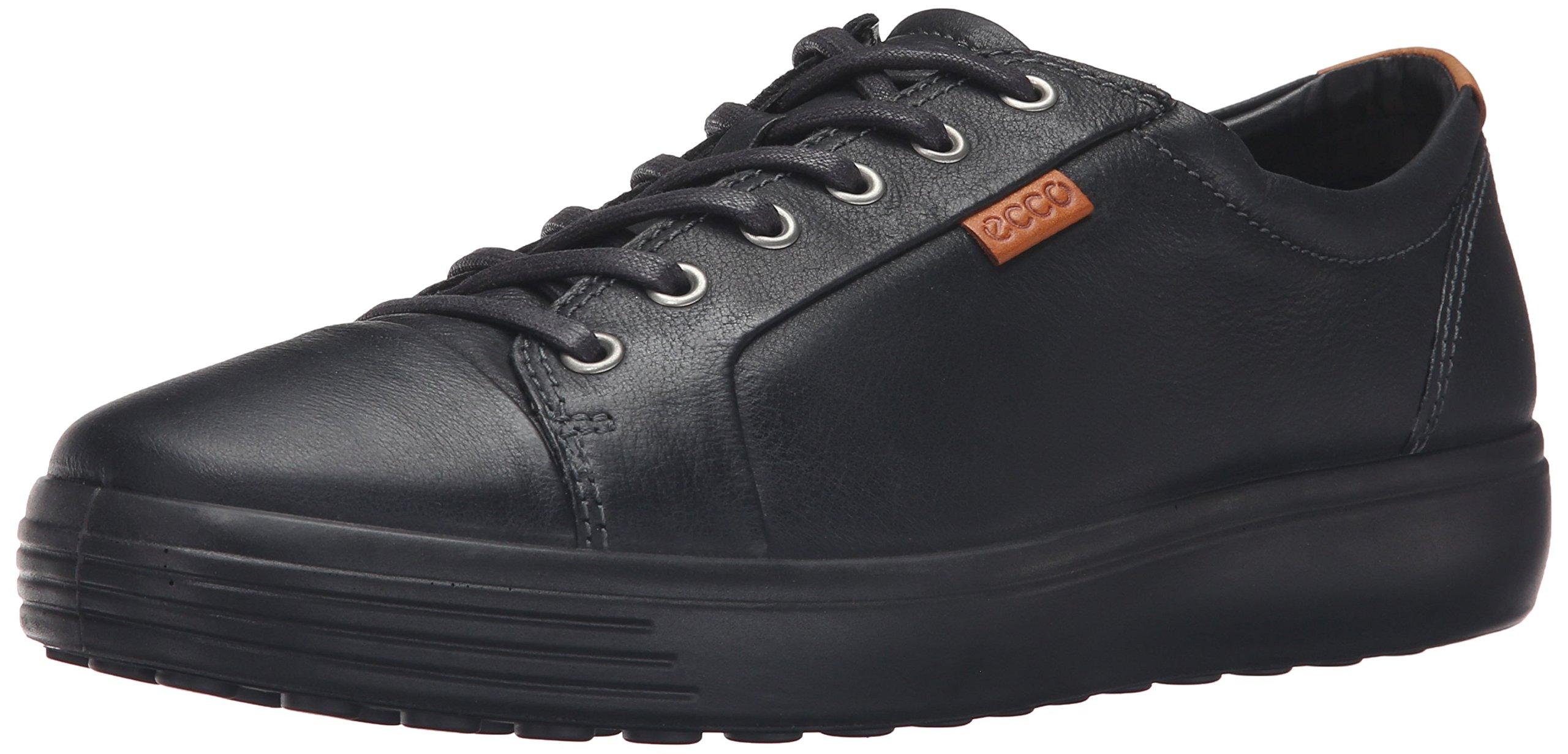 ECCO Men's Soft 7 Tie Fashion Sneaker, Black, 45 EU / 11-11.5 US