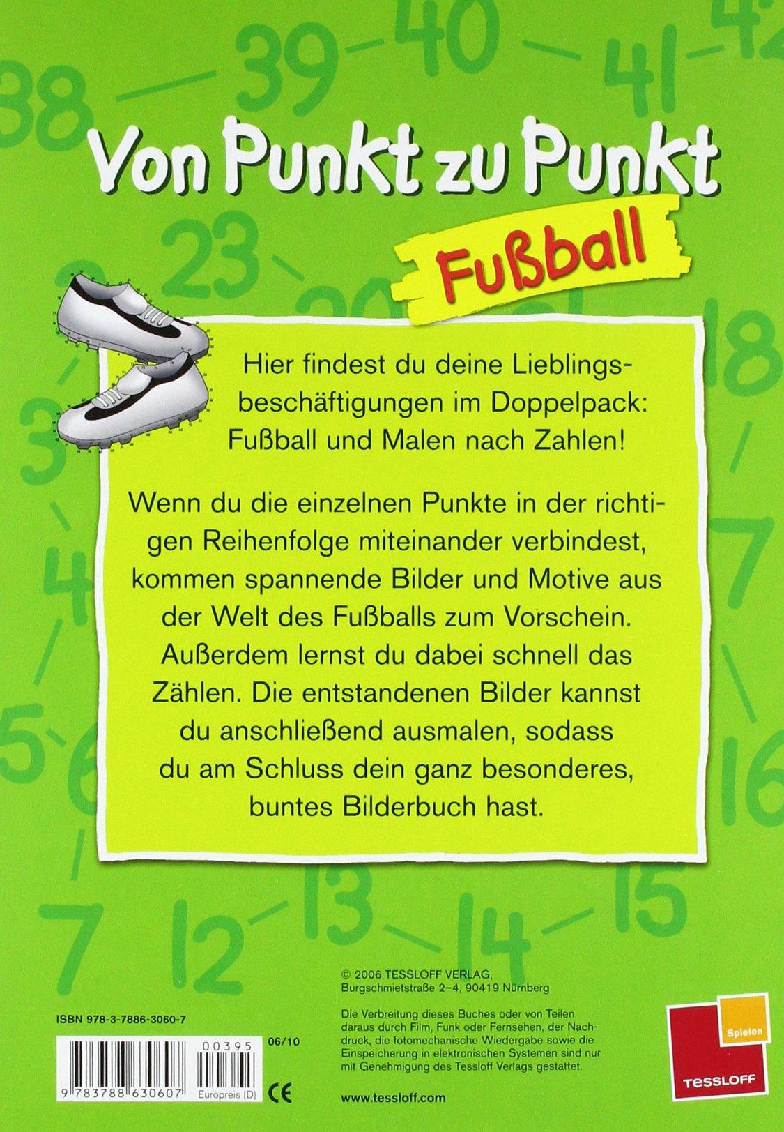 Von Punkt zu Punkt Fußball. Malbuch ab 6 Jahren: Amazon.de: Karl ...