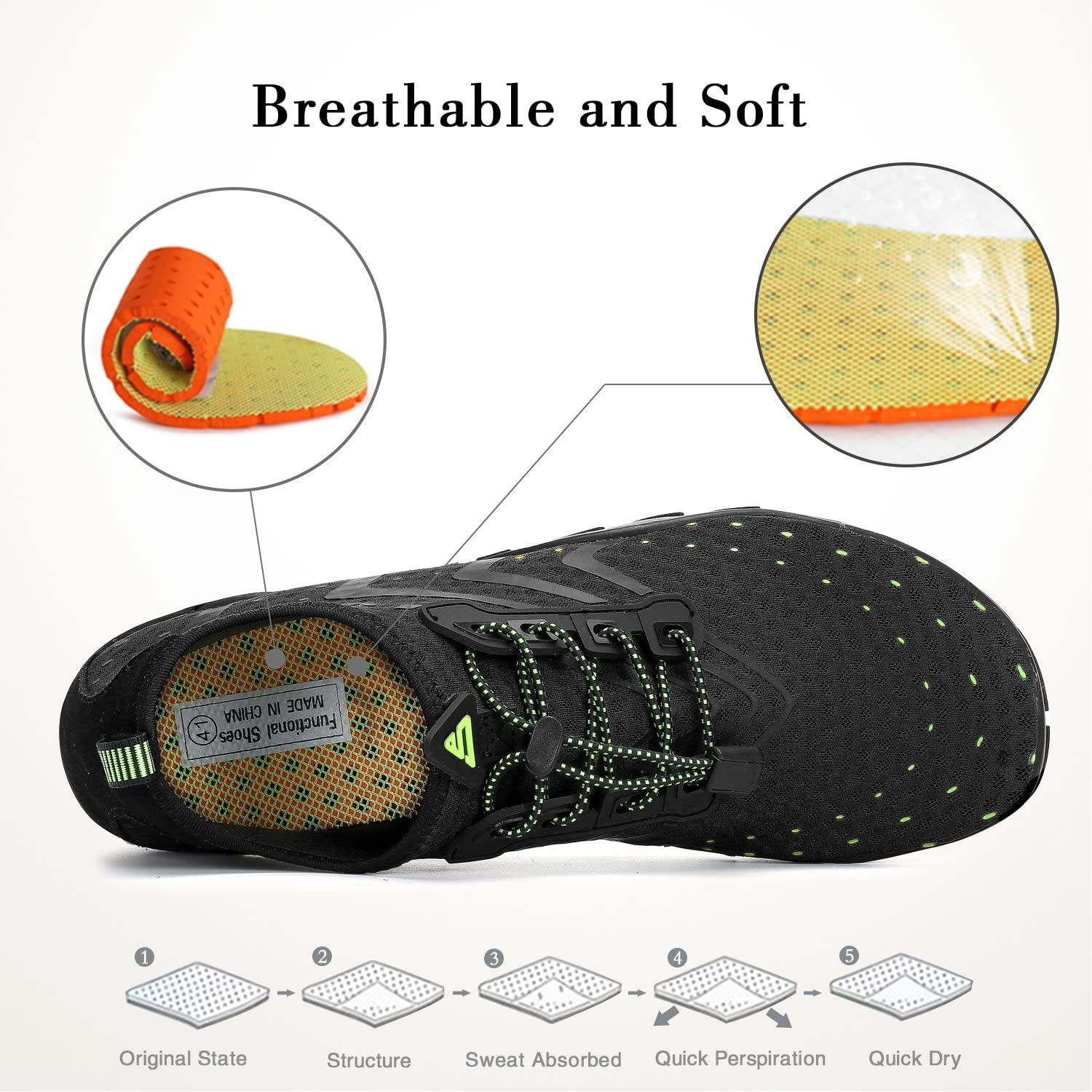Water Shoes Mens Womens Quick Dry Aerobics Sports Aqua Shoes Beach Swim Shoes with Non-Slip Rubber Sole for Swimming Pool,Snorkeling,Boating,Surf,Yoga