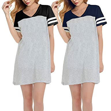 Amazon.com  Nightshirts for Women Plus Size Scoop Neck Sleep Tee Nightshirt   Clothing 8fc4ed987