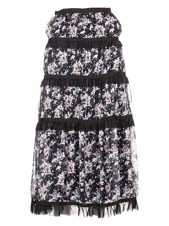 Giuseppe Di Morabito Women's SS18016SK1 Black Silk Skirt