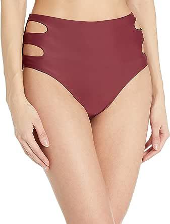 Amazon Brand - Coastal Blue Women's 11.1 Pattern Mixing High Waist Missy Swim Bottom