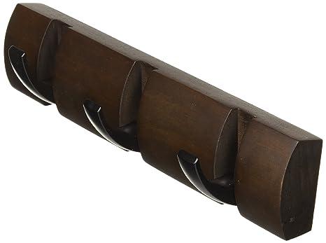 Umbra Flip 3 Hook, Black/Walnut by Umbra