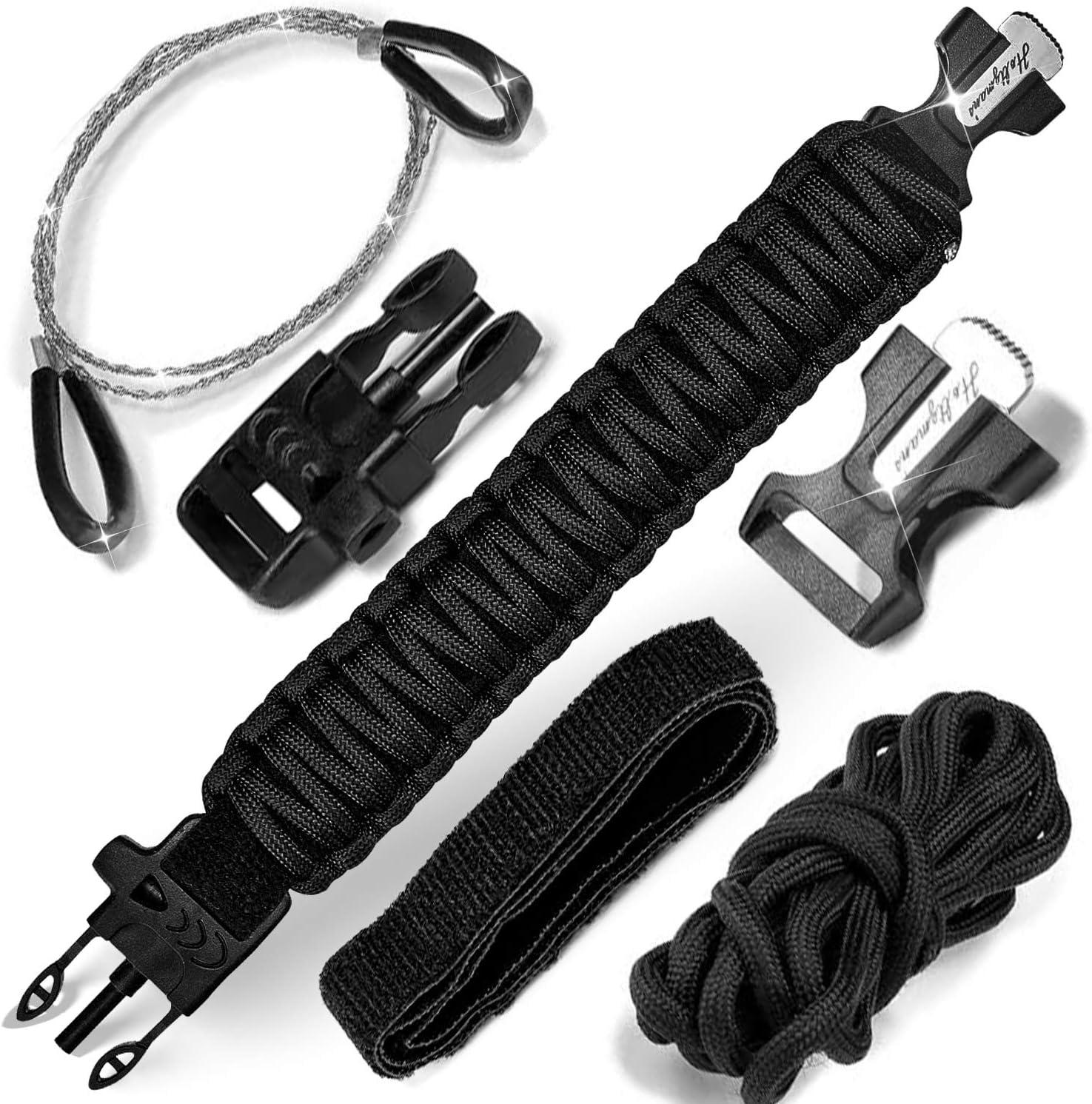 Paracord Survival Armband Schl/üsselanh/änger und Tactical Pen Set Schl/üsselanh/änger f/ür Notf/älle in der freien Natur Paracord f/ür den Alltag Stift aus Flugzeugaluminium f/ür Survival