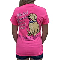 Southern Attitude Who Said Diamonds are a Girls Best Friend Dog Pink Women's Short...