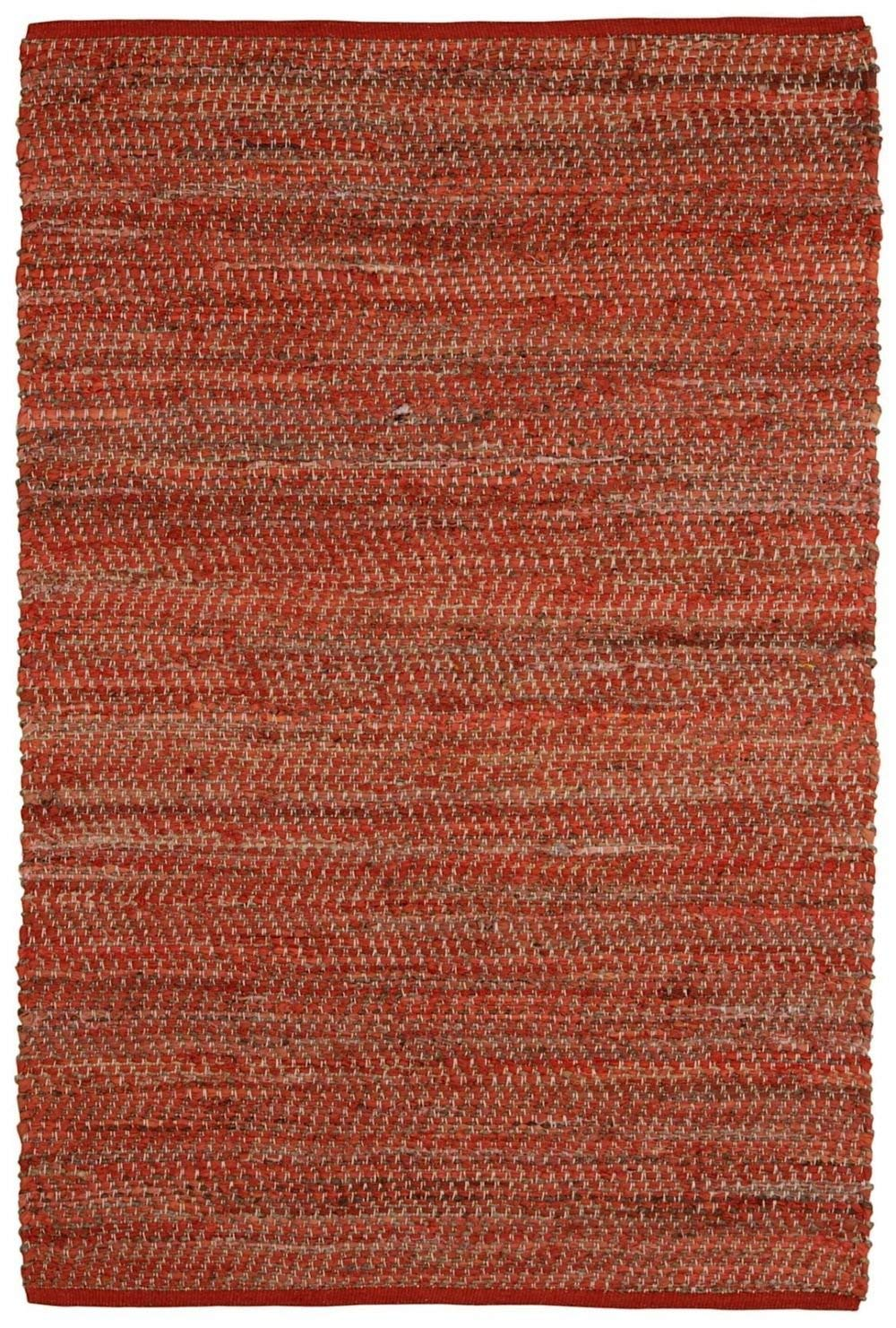 Earth First Jeans Rug, 5-Feet by 8-Feet, Orange