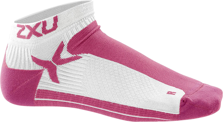 X-Small//Small 2XU Womens Performance Low Rise Socks White//Supernova