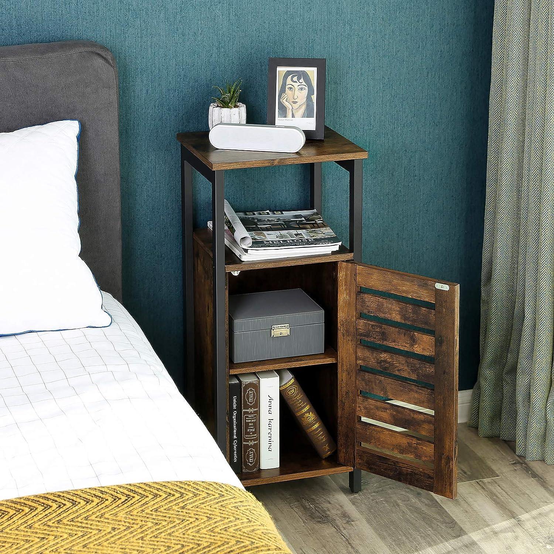 Style Industriel Armoire de Rangement Bout de canap/é Table d/'appoint Chambre pour Salon 37 x 30 x 81 cm Couloir Vintage LSC34BX VASAGLE Meuble de Rangement