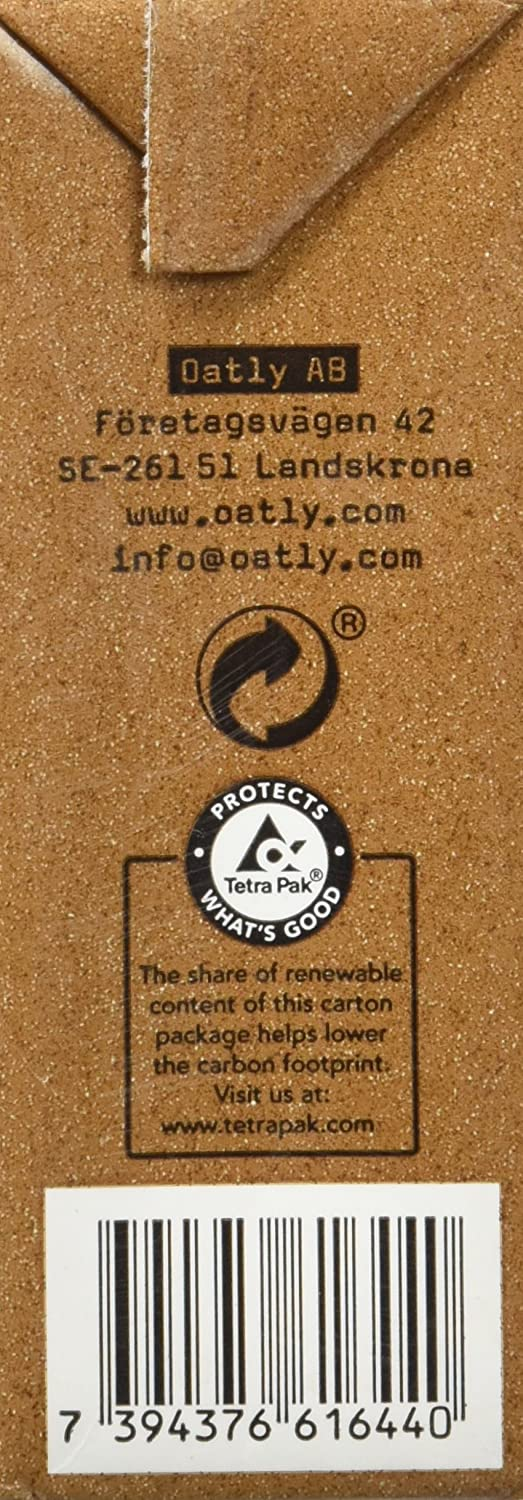 Oatly Bebida Avena con Chocolate - 250 ml - [Pack de 9]: Amazon.es: Alimentación y bebidas