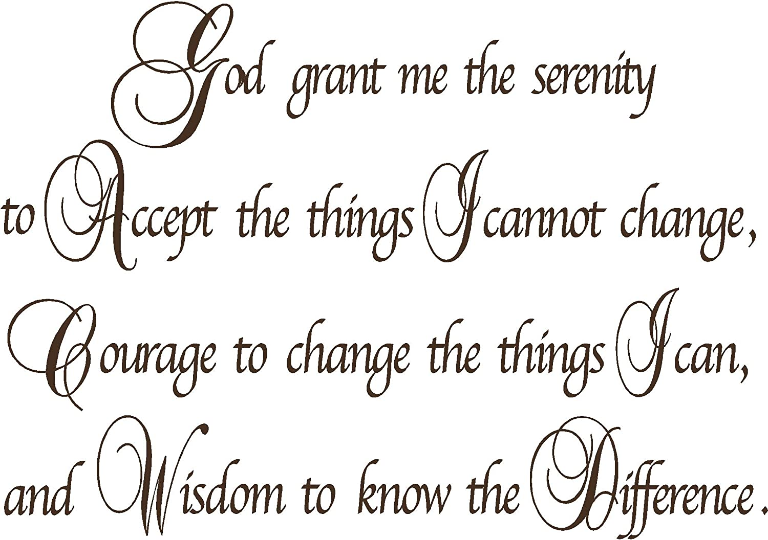 Amazon.com: Quote It! - Serenity Prayer Wall Decor Decal ...
