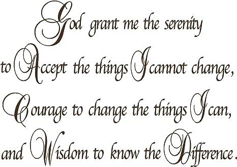 Amazon.com: Quote It! - Serenity Prayer Wall Decor Decal ...