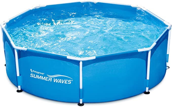 SUMMER Waves p20008300000 Piscina sobre Suelo Tubular Metal Frame Redonda, 2650 l, Azul, 2.44 x 0.76 mm: Amazon.es: Jardín