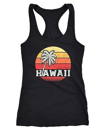 Herren T-Shirt Hawaii Palme Tropical Summer Retro Slim Fit Baumwolle Neverless®