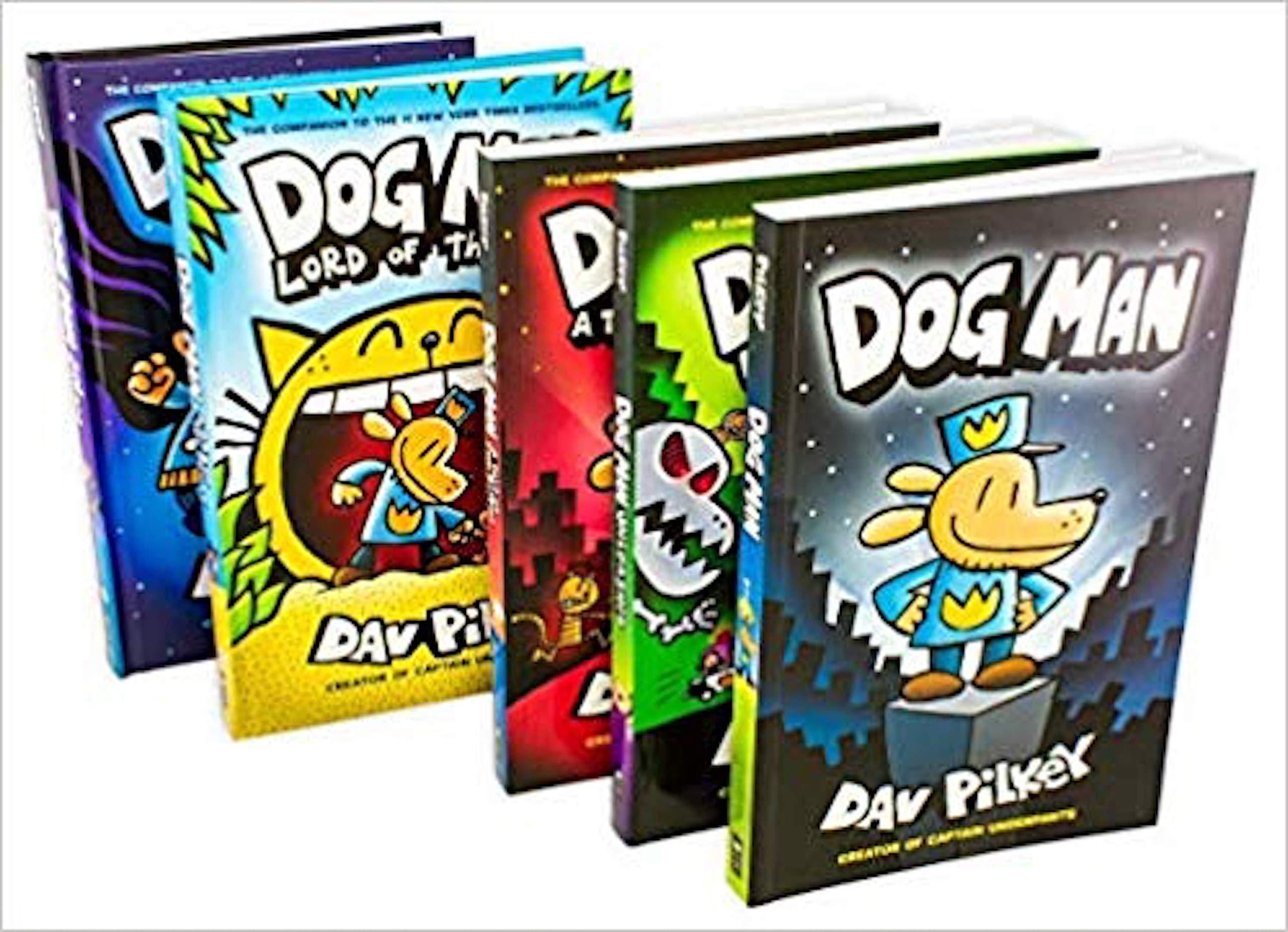 Dog Man Collection Set, 5 Books