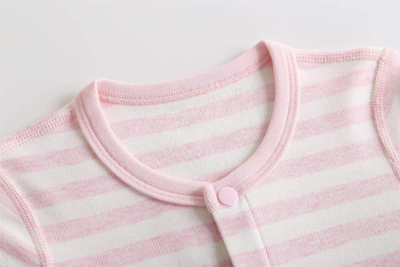 SugarPocket Baby Bodysuits Longsleeved 3-Packs