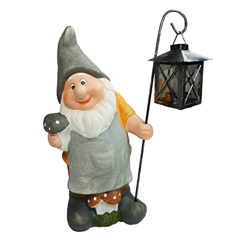 32cm Gnome with Lantern
