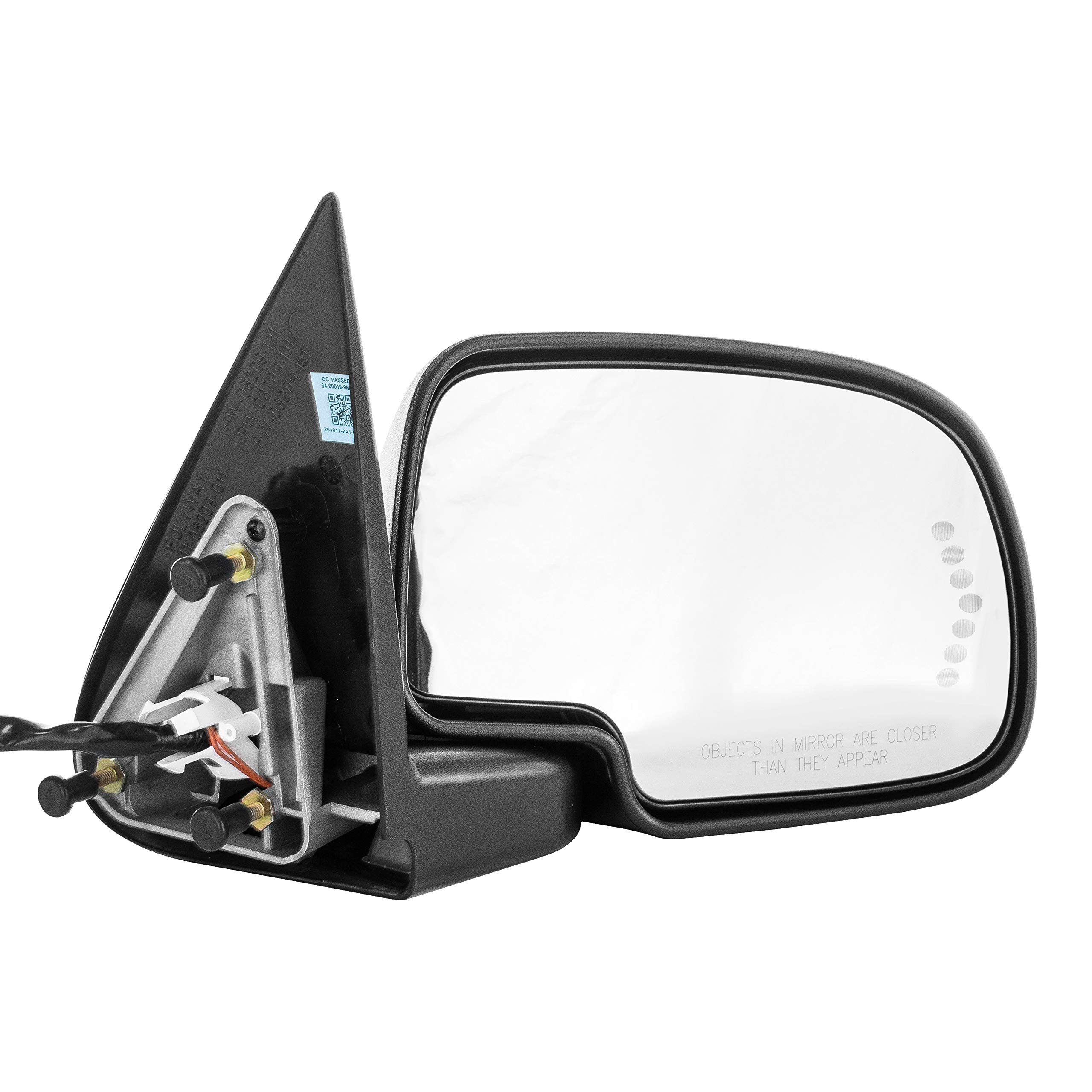 Right Passenger Side Door Mirror Heated Power-Folding - Chevy Silverado Suburban Tahoe Avalanche GMC Sierra 1500 2500 3500 Yukon 2000 2001 2002 2003 2004 2005 2006 2007 - CHECK FITMENT IN DESCRIPTION