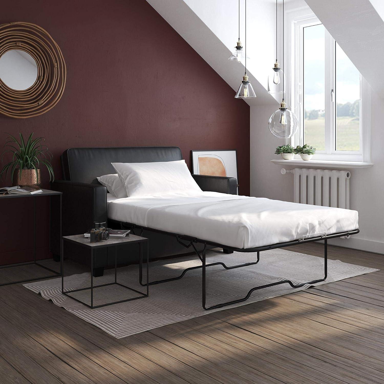 - Amazon.com: Signature Sleep Casey Faux Leather Sleeper Sofa With