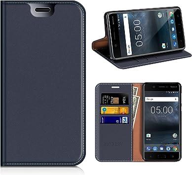 MOBESV Funda Cartera Nokia 5, Funda Cuero Movil Nokia 5 ...