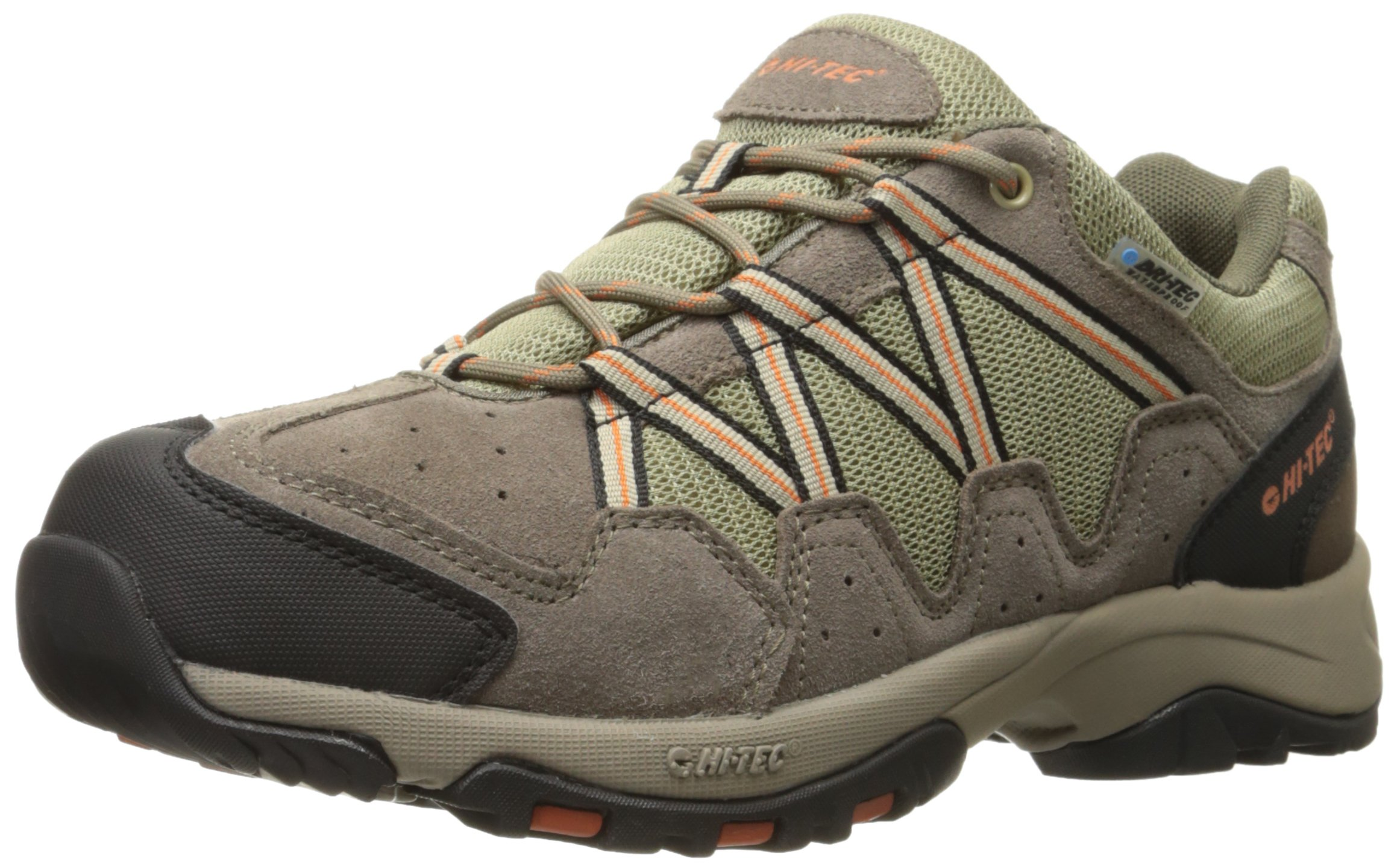 Hi-Tec Men's Dexter Low Waterproof Multisport Shoe, Smokey Brown/Burnt Orange, 10.5 M US