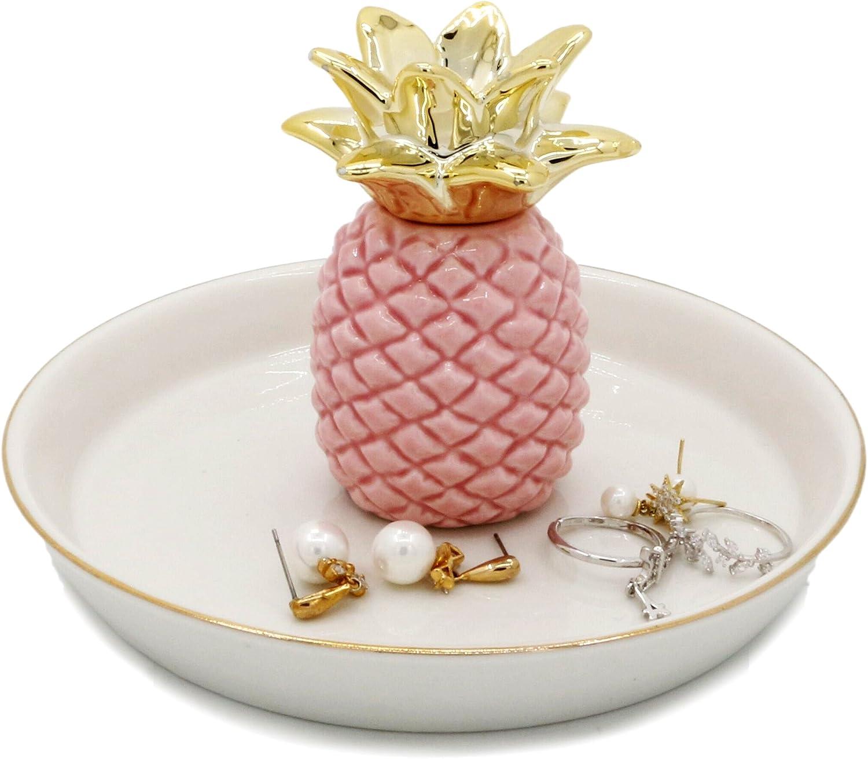 WANYA Ananas Ceramic Ring Jewelry Holder Decor Dish Organizer, Pineapple