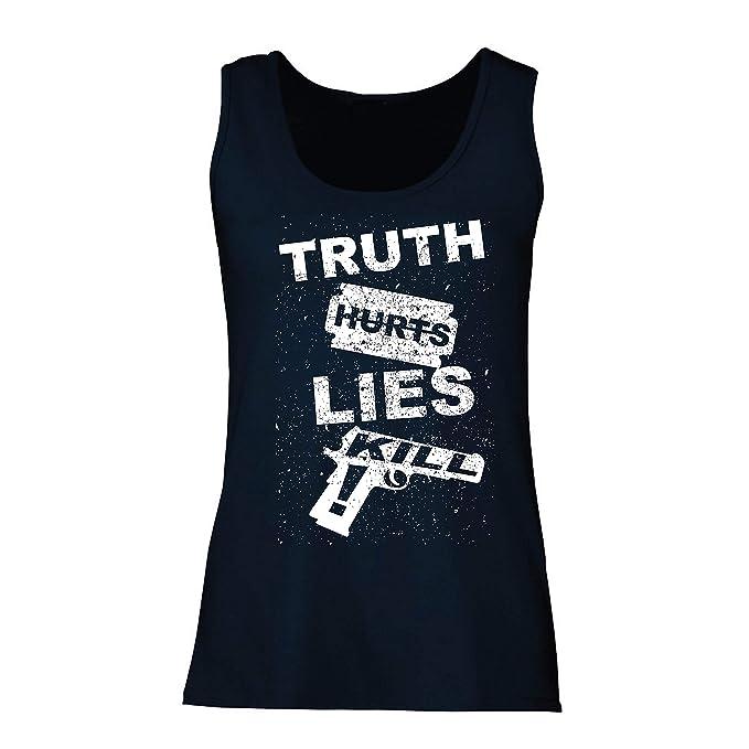 lepni.me Camisetas sin Mangas para Mujer La Verdad Duele la Mentira Mata!: Amazon.es: Ropa y accesorios