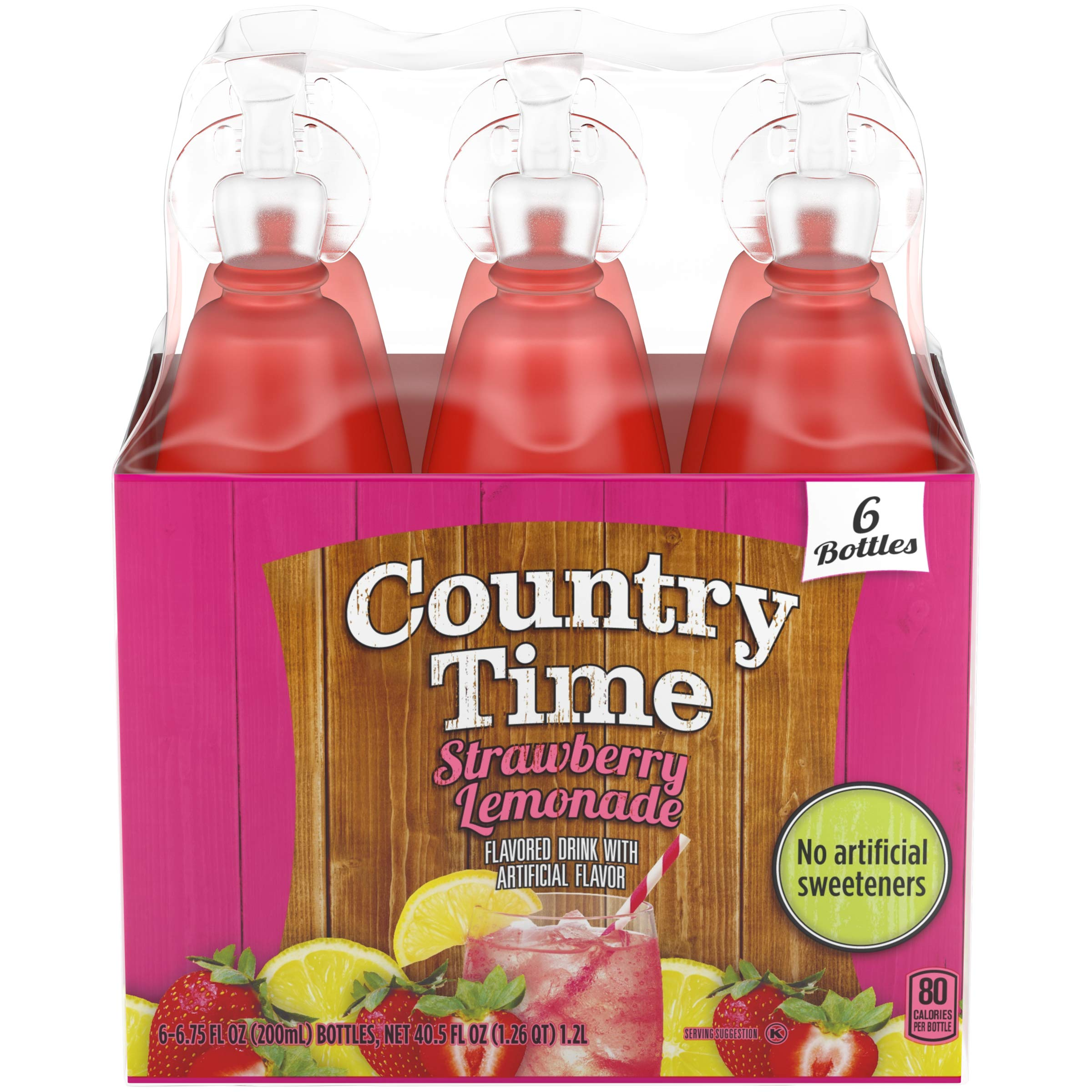 Country Time Strawberry Lemonade Drink Mix (6.75 oz Bottles, Pack of 8)