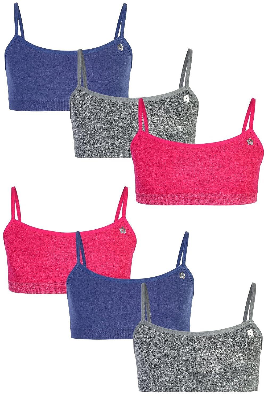 Limited Too Girls' Seamless Training Bra, 6-Pack