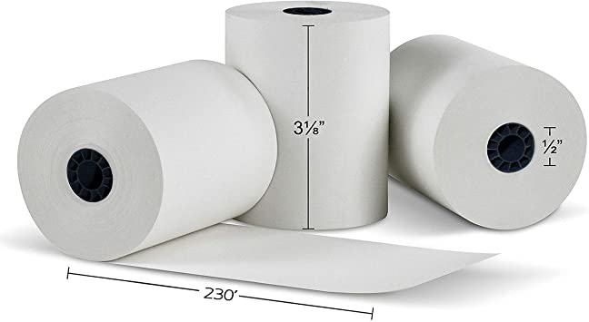 "10 ROLLS 3 1//8/"" X 230/' THERMAL PAPER ROLL POS PRINTERS  CASH REGISTER"