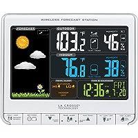 La Crosse Technology 308-1412S estación meteorológica inalámbrica LCD a color con puerto de carga USB y alertas de temperatura personalizables