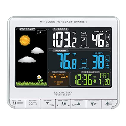 44a09c66c4d Amazon.com  La Crosse Technology 308-1412S Color LCD Wireless Weather  Station with USB Charging Port and Customizable Temperature Alerts  Home    Kitchen