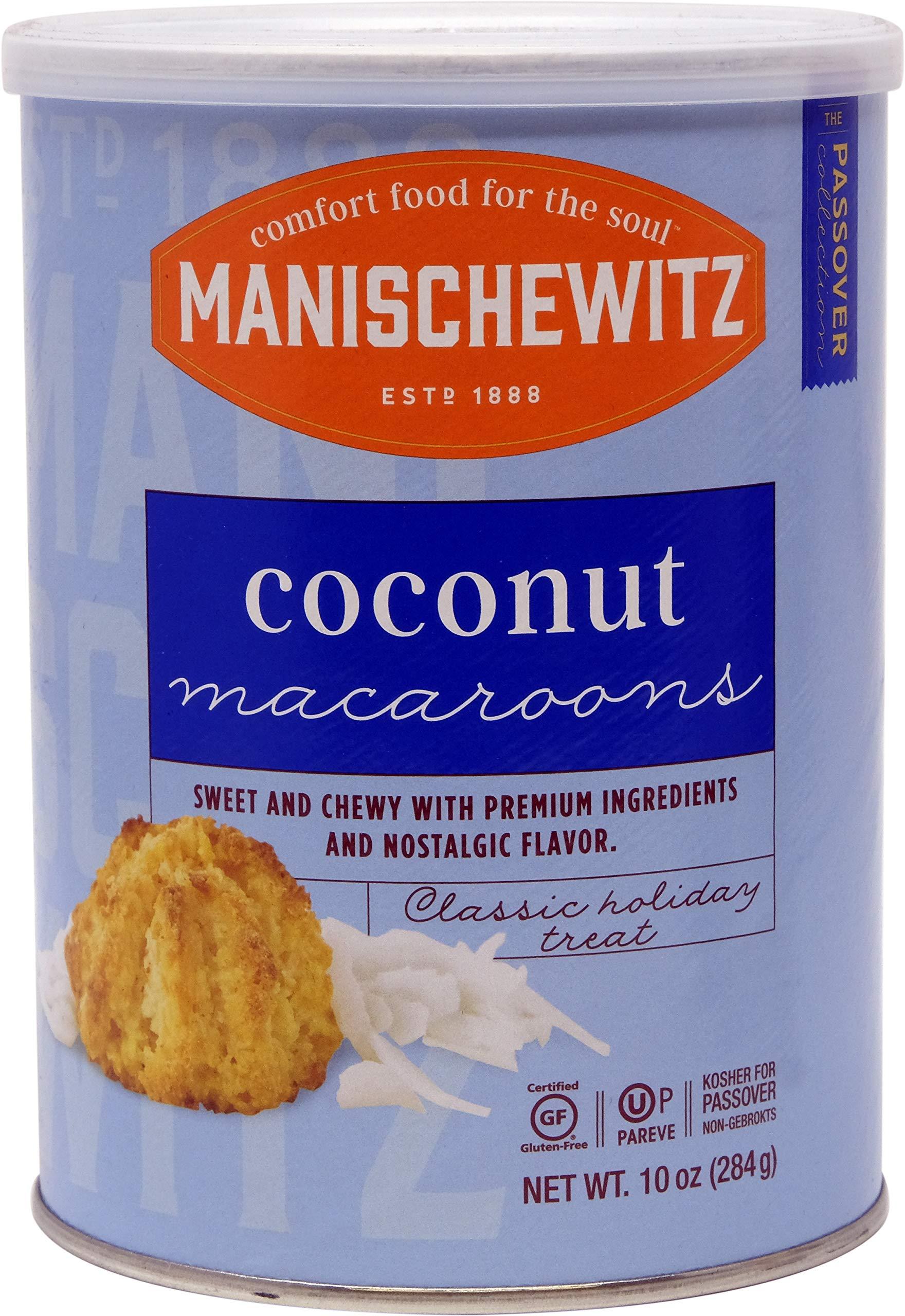 Manischewitz Macaroon Coconut, Kosher For Passover, 10 Ounce Canister (Single) by Manischewitz
