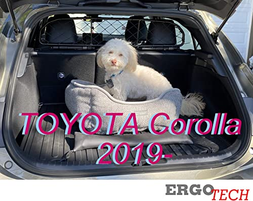 Ergotech Dog Guard, Pet Barrier Net and Screen RDA65-HXXS kty022 for Toyota Corolla, car Model Produced Since 2019, for Luggage and Pets