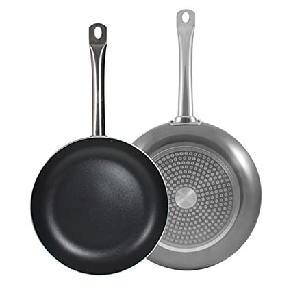 Bergner Q2842 Set 2 sartenes Ø20/Ø24cm Professional Chef Platinum, Negro