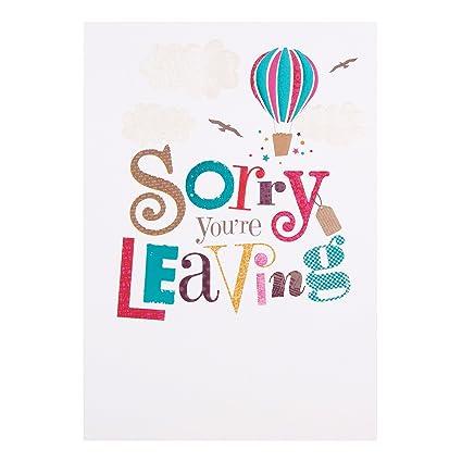 Hallmark – Tarjeta de despedida tarjeta «Sorry Youre Leaving» tamaño mediano