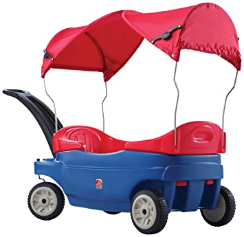 Amazon Step2 Step 2 Versa Seat Wagon With Canopy Toys Games